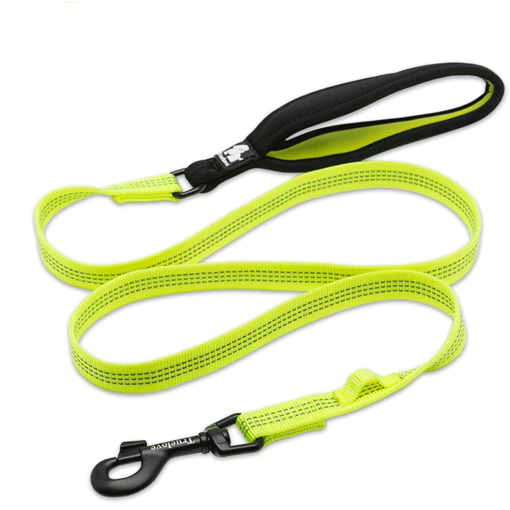 GREEN 140X1.5CM GREEN 140X1.5CM Nylon Ribbon Traction Rope Dog Cord Dog Chain Large Dog Small Convenient Dog Service (color   Green, Size   140X1.5CM)