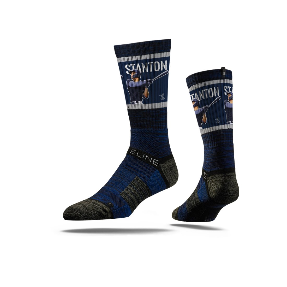 Strideline MLB PA New York Yankees Giancarlo Stanton Premium Crew Socks, Blue, One Size