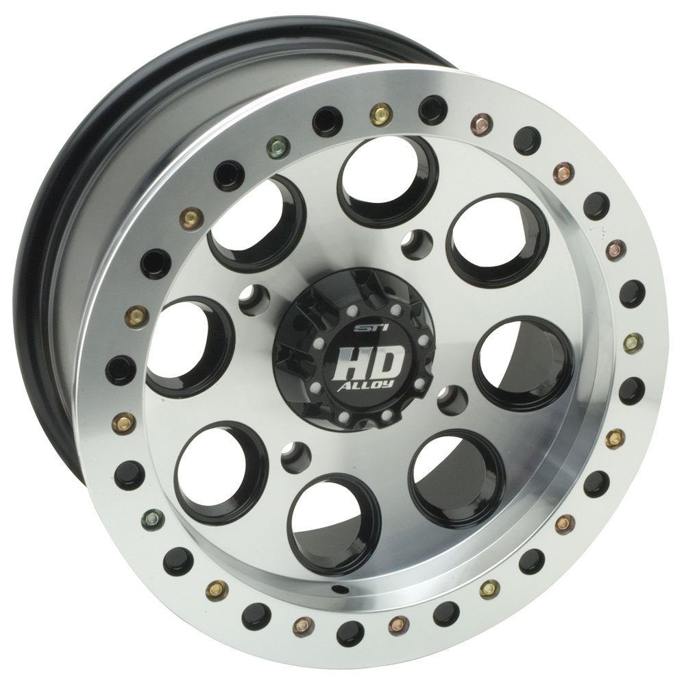 STI 4/156 STI HD Beadlock Wheel 14x7 4.0 + 3.0 Machined POLARIS