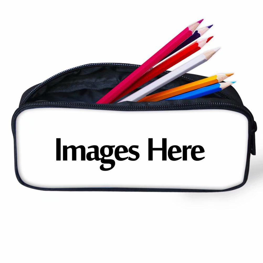 per studenti accessori per la scuola 22x4.5x11cm Horse Pattern 2 HUGS IDEA Astuccio per penne e matite con stampa di cavalli