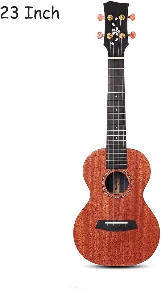 Guitarra Acustica Guitarra Ukulele Caoba HPL BT Caoba Cuello Negro ...