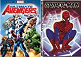 Marvel Spider-Man & The Ultimate Avengers Animated Movie DVD - Super hero cartoon Bundle Spider-Man - The New Animated Series - The Ultimate Face Off Set