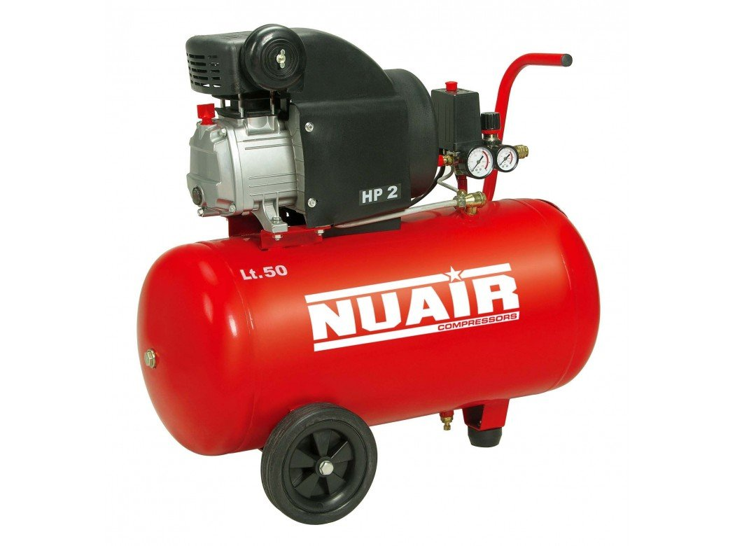 Nuair M257189 - Compresor de piston con aceite rc2/50 cm red 2hp: Amazon.es: Bricolaje y herramientas