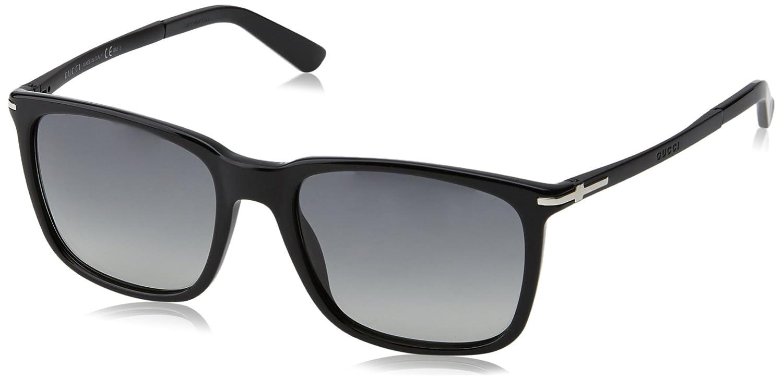 Gucci GG 1104/S Gafas de Sol, Black, 55 para Hombre: Amazon ...
