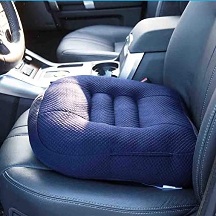 GFYWZ Car Seat CushionPortable Breathable Mesh Height Boost Comfortable Pad For Office
