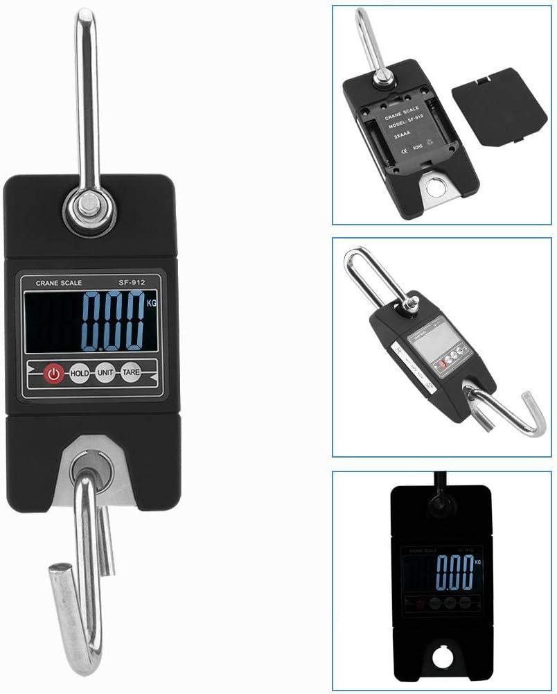 Bilancia Elettronica Digitale da Appendere Digitale da 150 kg//100 g con Gancio Portatile Alinory Bilancia Elettronica