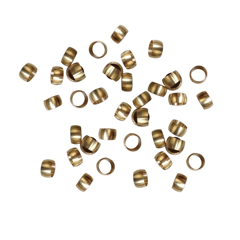 Metalwork Metric Nickel Plated Brass Compression Sleeve Ferrules (14mm OD, Pack of 20)