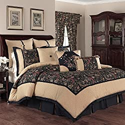Waverly 14560BEDDKNGJWL Rhapsody 110-Inch by 96-Inch 4 Piece King Comforter Set, Jewel