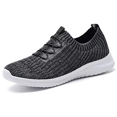 9d1a49a34dbfb LANCROP Women's Athletic Walking Shoes - Casual Mesh Lightweight Running  Slip on Sneakers