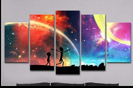 Amazon Com Pllp Hanging Paintings Micro Spray Painting Living