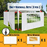 BenefitUSA Sidewalls 10'X6.4′ Size For Tent Outdoor Pop Up Canopy Gazebo Marquee with Zipper&Window Review