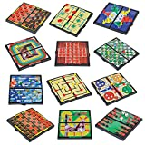 "Toys : Gamie Magnetic Board Game Set Includes 12 Retro Fun Games - 5"" Compact Design - Individually Boxed - Teaches Strategy & Focus - Great for Road Trip/ Travel/ Camping - Best Gift for Kids Ages 6+"