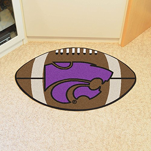 Fanmats Team Support Sports Carpet Decorative Accessories Logo Printed Kansas State Football Rug 22