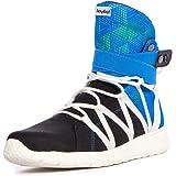 Heyday Footwear Men's Super Freak Premium Blue Fabric High Top Bodybuilding Sneaker