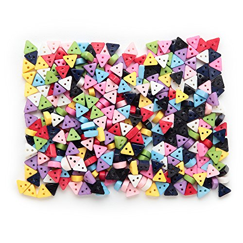 Resin Small Buttons Multicolor Triangle Shape 6mm