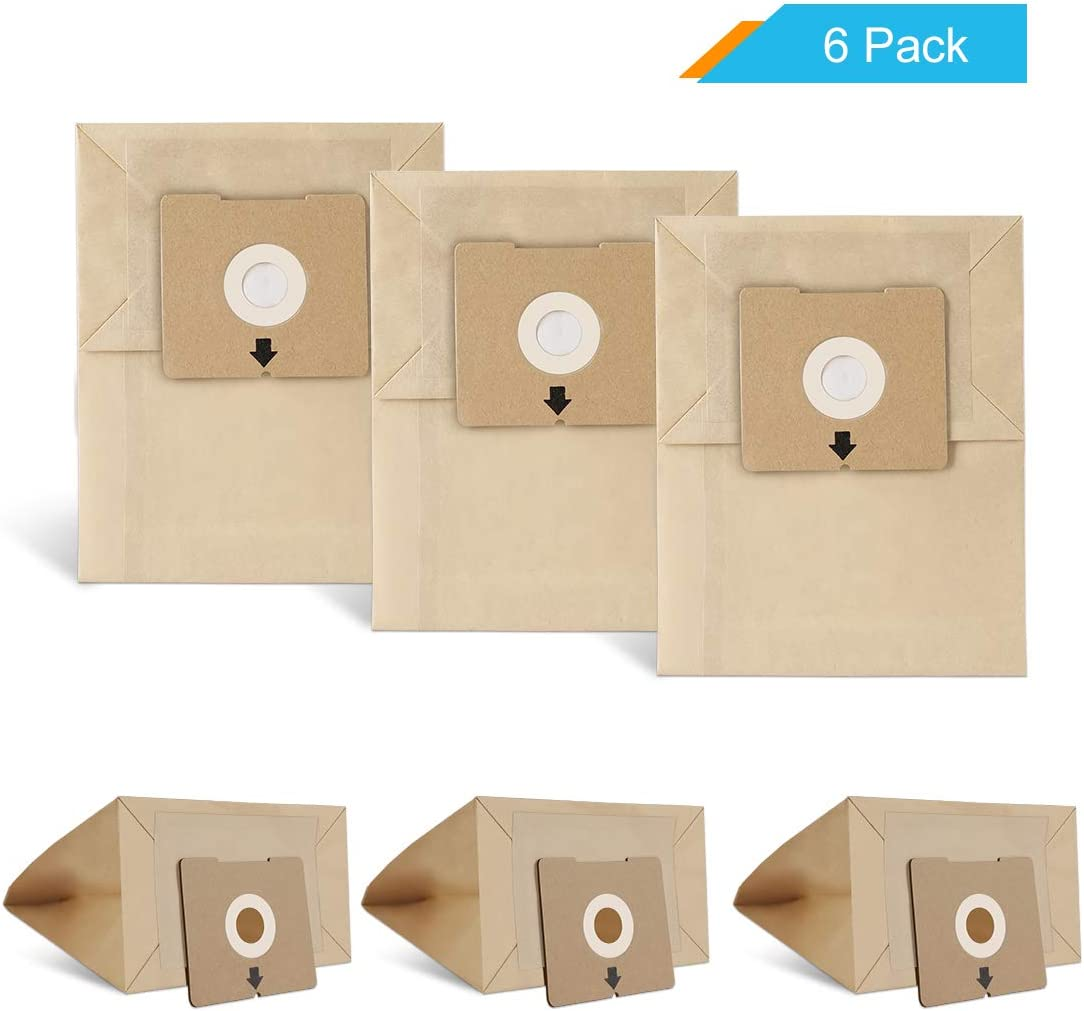 LANMU Dust Bags for Bissell Zing 4122 Canister Vacuum, Replacement Bag Compatible with Models 4122D,1668,1668C,1668W, 2154A, 2154C, 2154W, 1608, Compare to Part Number 213-8425 (6 Pack)