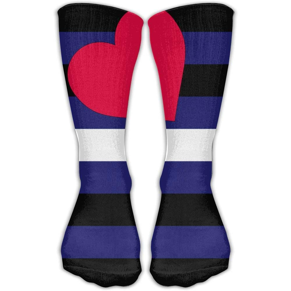 Gay Leather Pride Outdoor Unisex Nursing Travel Sport High Socks Cotton Dress Sock 60 cm
