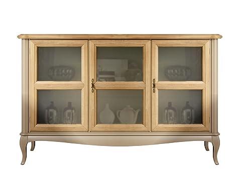 Credenza Con Vetri : Credenza bassa classica con porte in vetro x