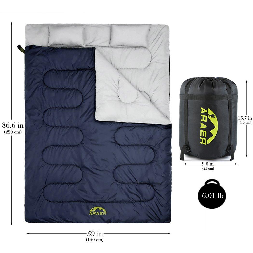Saco de dormir doble techo saco de dormir Dos personas algodón Saco de dormir Outdoor Dos personas: Amazon.es: Deportes y aire libre
