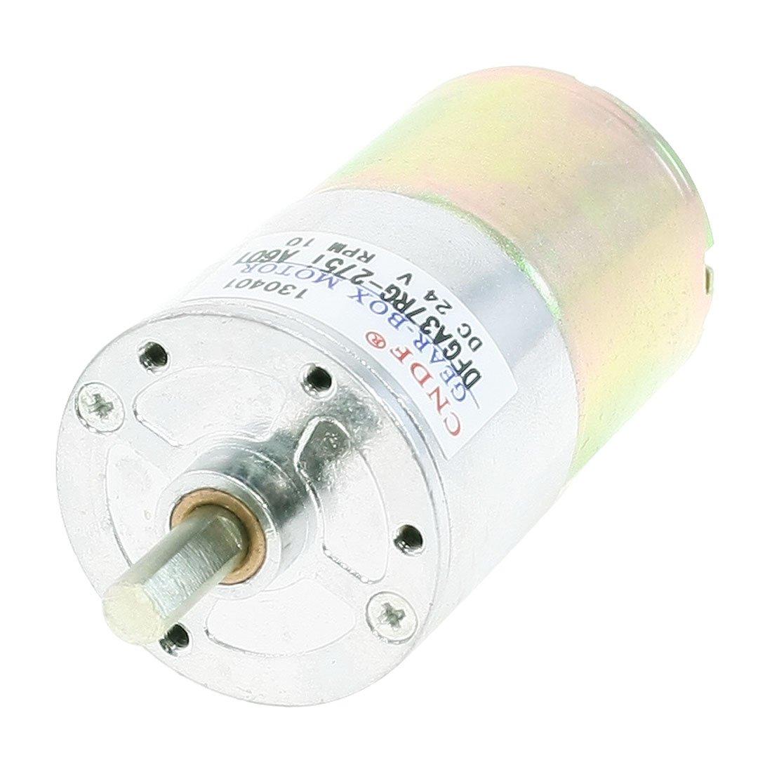 uxcell 13.14kg.cm Torque Terminal Magnetic Gear Motor 10 RPM 24V DC