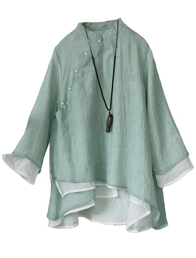 Damen Vintage Jacquard Dreiviertel Spitze V Ausschnitt Plus Size Top T Shirt Bluse Spitzenhemd Aus Baumwolle