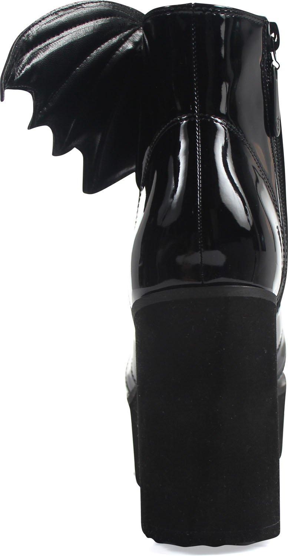 Iron Fist - Womens Bat Wing Patent Boot B06WVSDSHB 10 M US|Black