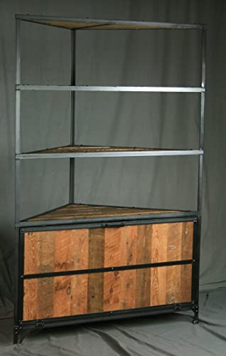 industrial com with in steel hutch desk culturedliving deskhutchindustrialdeskinsteel