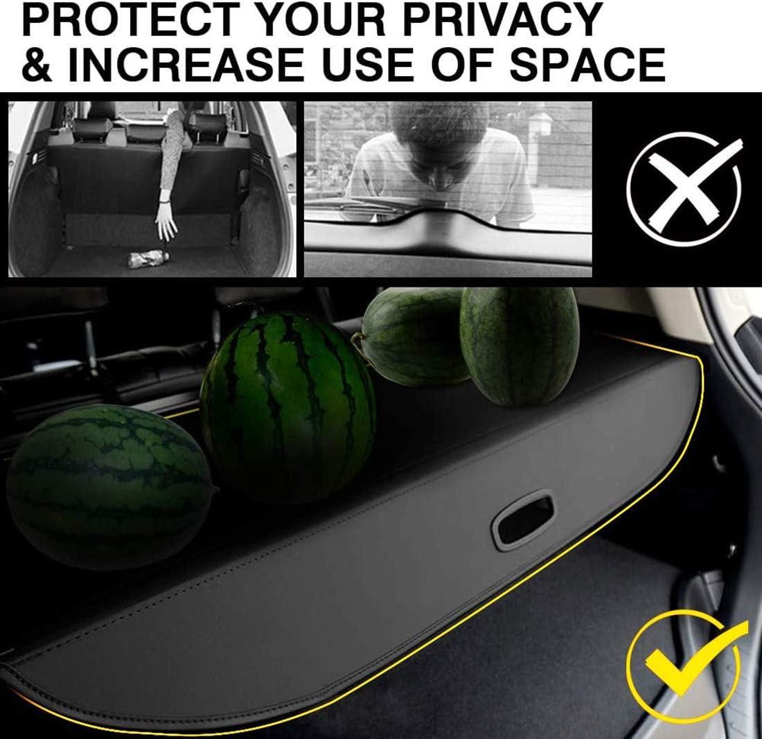 Parasol QWASZX Estante Trasero retr/áctil para Maletero para Chevrolet Orlando persiana Enrollable para Equipaje Panel de Seguridad de protecci/ón Accesorios para el autom/óvil Negro//Beige
