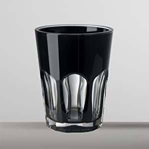 Set 6 Mario Luca Giusti Double Face Glass Black
