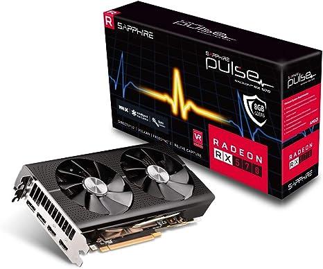 Sapphire 11266-67-20G Radeon RX 570 Tarjeta gr/áfica 4 GB, GDDR5, 256 bits, 3840 x 2160 p/íxeles, PCI Express x16 3.0