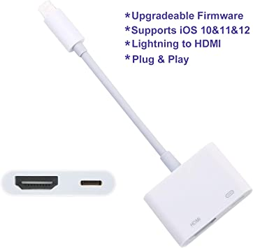ENBIA - Adaptador HDMI Digital AV Compatible con iPhone, iPad ...