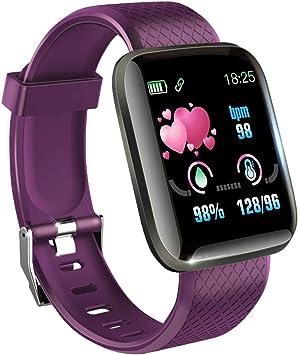 KawKaw Smartwatch con pulsómetro, tensiómetro y podómetro ...