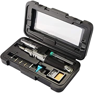 10 In 1 Professional Butane Gas Soldering Iron Set Welding Torch Kit Automatic
