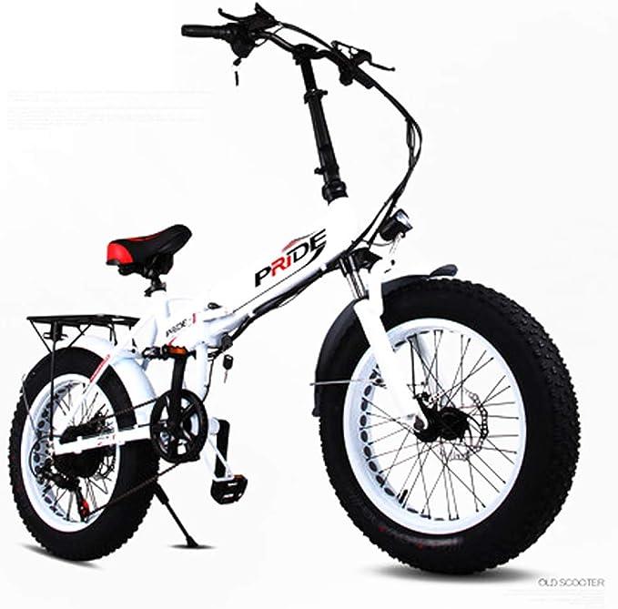Bicicleta eléctrica 48v 250w 10.4ah Bicicleta de montaña para hombre Pedal de nieve para bicicleta de 6 velocidades y 20