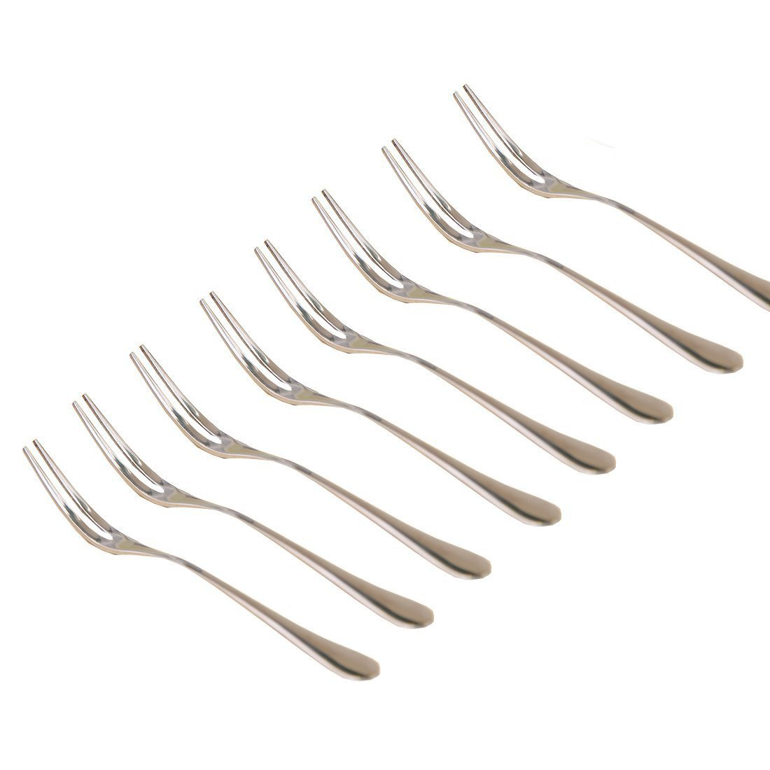 Bistro Appetizer Cocktail and Fruit Forks - Stainless Steel (12) deals4you
