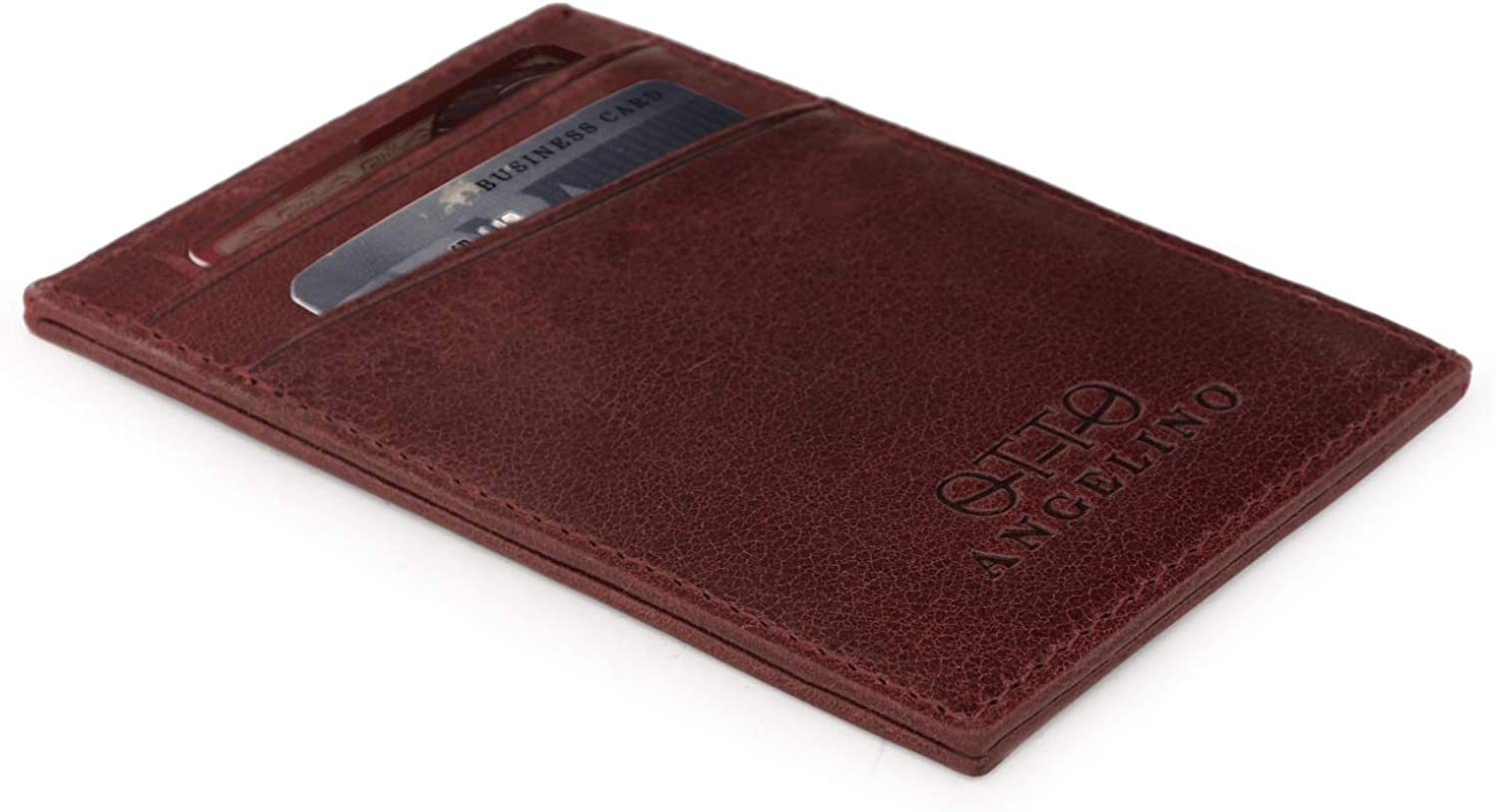 Drivers License Otto Angelino Genuine Leather Wallet Bank Cards Money Unisex