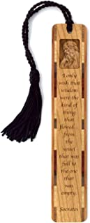 product image for Socrates Wisdom Quote Engraved Wooden Bookmark with Tassel - Search B079NLVJN7 to See Personalized Version.