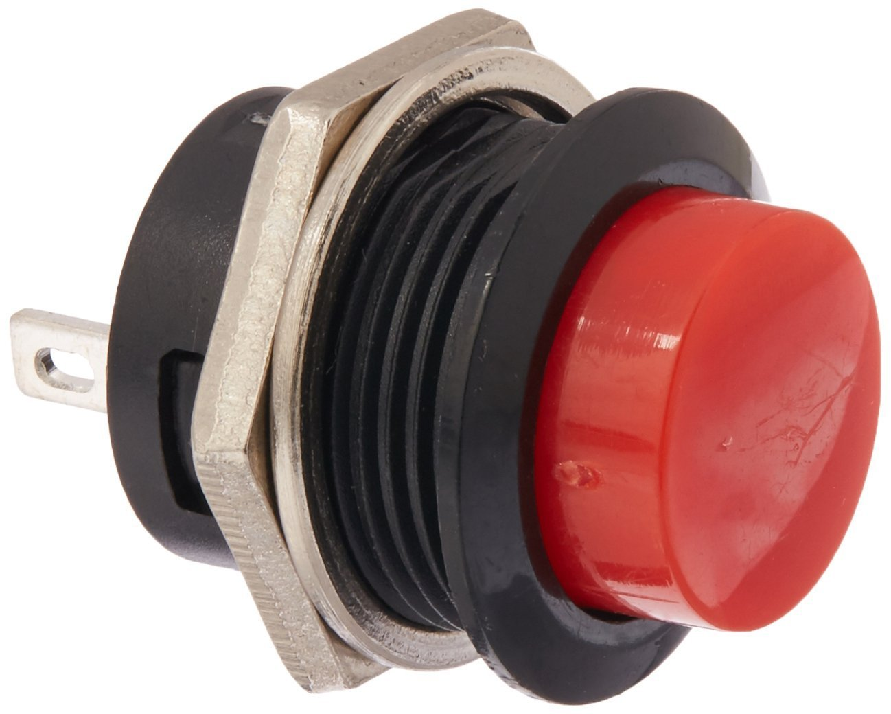 Spst No Momentary Push Button Switch 2 Terminals Ac 6amp 125v 3amp Wire For Car Autoin 250v Mini Red Cap 5 Pack Industrial Scientific