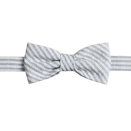1ebf6d912dff Amazon.com: Ivy Lane Design Pre-Tied Seersucker Bow Tie, Light Blue/White:  Home & Kitchen
