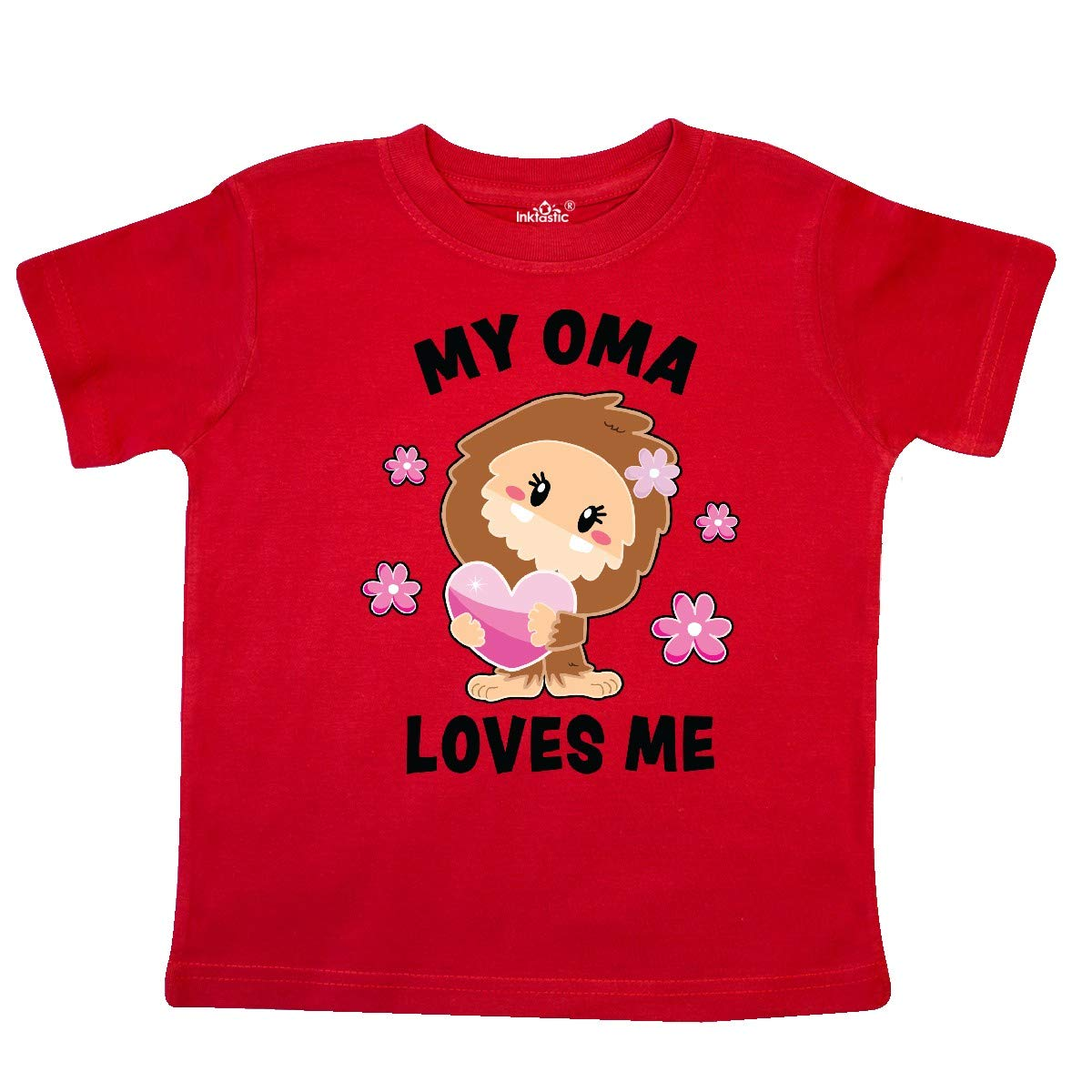 inktastic My Oma Loves Me with Bigfoot Toddler T-Shirt