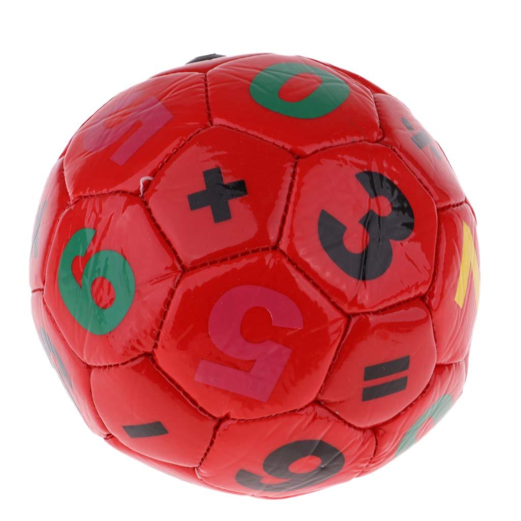 F Fityle Juguete de Balón de Fútbol para Niños 3-6 años de Cuero Artificial Pequeño y Duradero - Rojo, Diámetro 15 cm Diámetro 15 cm
