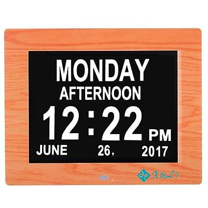 """Reloj Digital calendario día y hora XULI 8 """"Actualización - con función de alarma"""