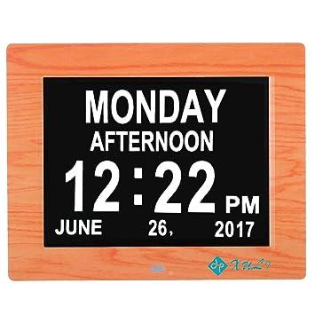 Reloj Digital calendario día y hora XULI 8