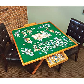 Amazon Com Folding Jigsaw Puzzle Table For Adults Amp Kids