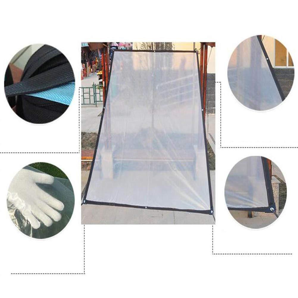 Dimensioni 22 Colore : Pulire, Dimensioni : 1 x 1m YANZHEN Telone Telo Copertura Tenda da Sole Pieghevole Antipioggia Trasparente Antipioggia Antivento con Foro in Metallo in Polietilene