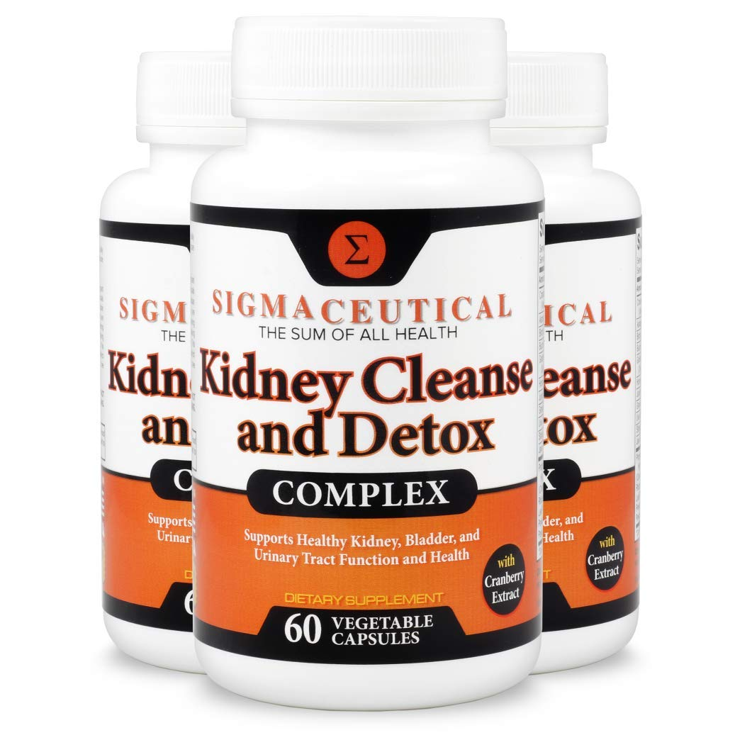 3 Pack of Kidney Cleanse Kidney Detox Supplement – Cranberry Supplement – Kidney Support Supplement – 60 Capsules Each