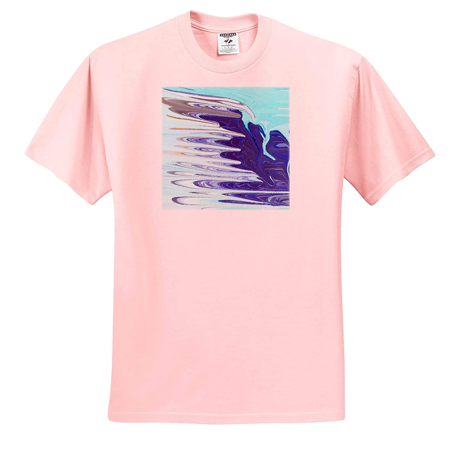 Geometric Abstract Image of Cobalt Aqua and Ice Blue Painting 3dRose Lens Art by Florene T-Shirts