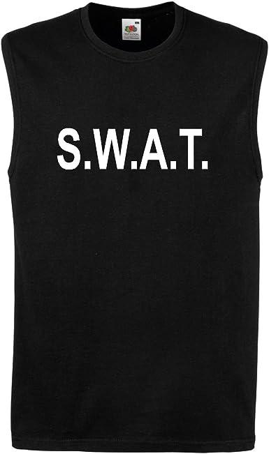 SWAT T Camisa Tanque Chaleco Sin Mangas NYPD CTU NCIS CSI DEA LAPD Pistola de policía: Amazon.es: Ropa y accesorios