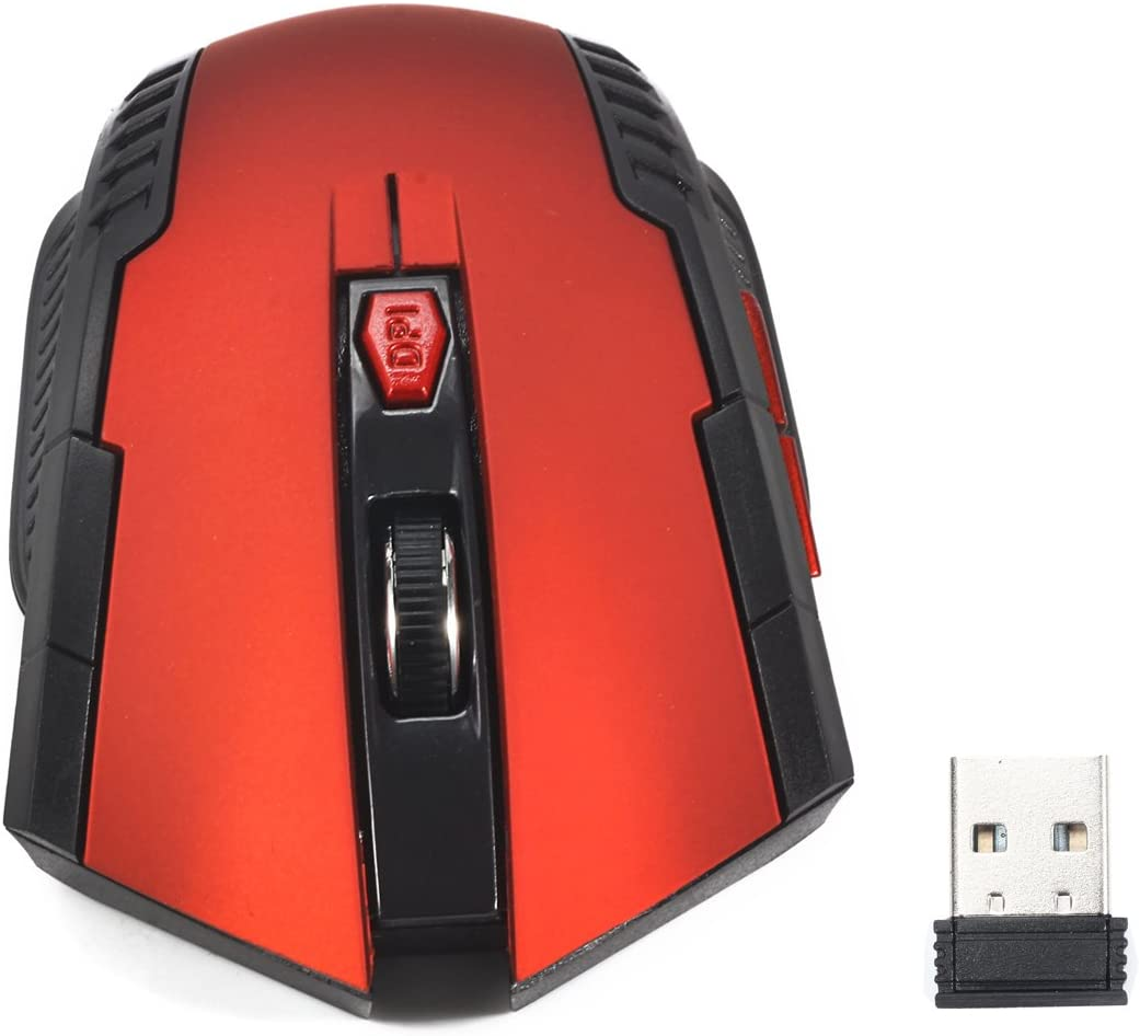 LOLOP Wireless Mouse 2.4Ghz Wireless Portable Optical Mouse for Office Games,Black