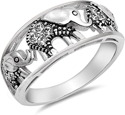 CloseoutWarehouse Sterling Silver Oval Beaded Bali Design Ring